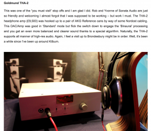 Goldmund THA2 headphone amp
