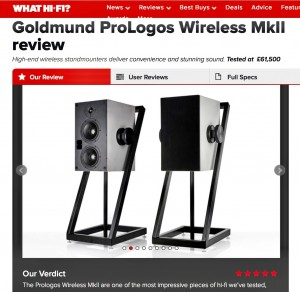 Goldmund ProLogos wireless speakers